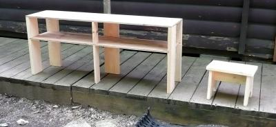 履物棚と踏み台