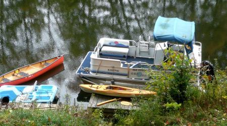 コテージのボート