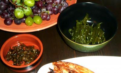 コテージ朝食日本から唐辛子