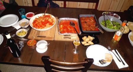 CAコテージ初日2-2パパママの料理