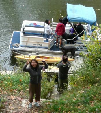 CAコテージ川 ボート