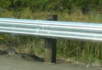 US木製ガードレール柱