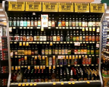 USスーパーのビールコーナー1