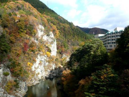 吊橋からの眺望&ホテル