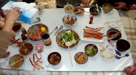 散髪16日昼食1