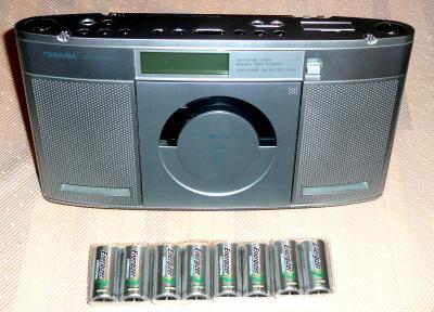 充電電池24日CDラジオ1