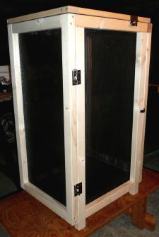 薫製器27日乾燥箱左側面と背面