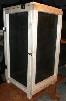 薫製器27日乾燥箱側と面扉