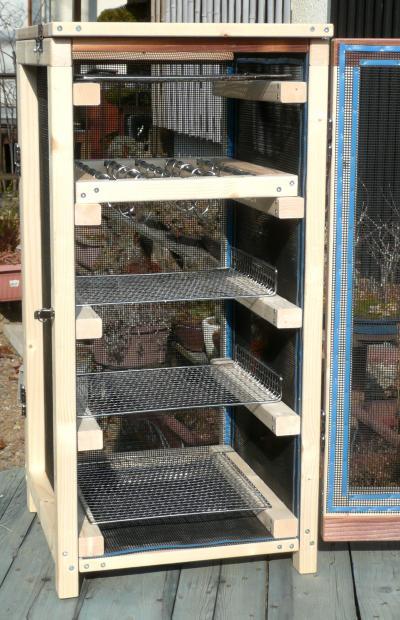 薫製器1月9日乾燥箱網等取付