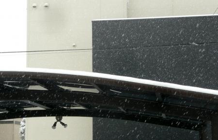 雪2月6日カーポート屋根