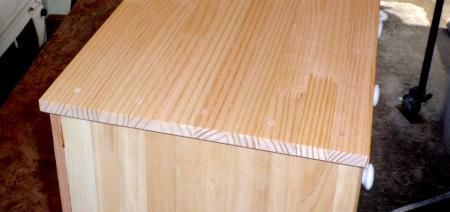 DIY3月17日分ゴミ箱天板埋め木カット