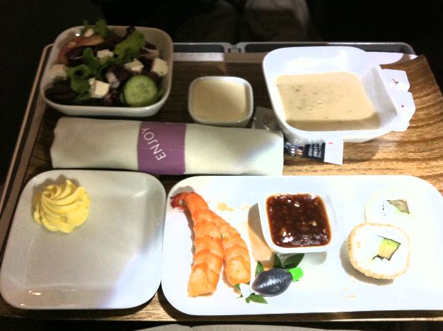 機内食前菜いき