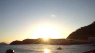 二見浦からの眺め 朝日
