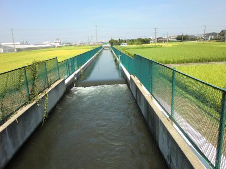 左岸用水路NTT付近
