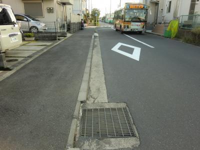 室田バス停付近