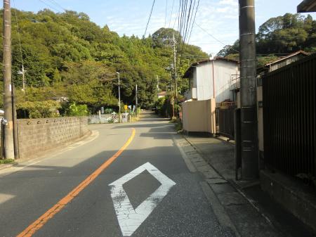 県道54号線バス停学校入口付近
