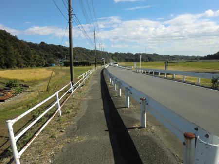 河岸段丘へ向かう横須賀水道みち