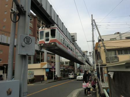 湘南モノレール・湘南深沢駅付近