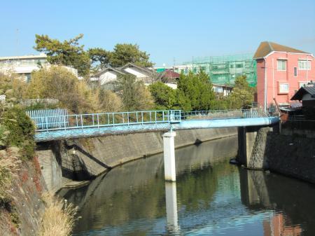 横須賀水道・滑川水管橋 鎌倉市材木座