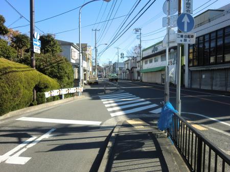 横須賀水道みち県道24号線手前