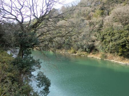 弁天橋より相模川上流を望む