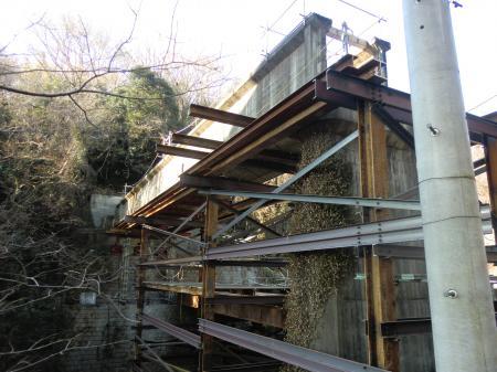 小倉橋・灌漑用水路橋撤去工事