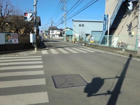 神奈川県営水道みち・七曲り下交差点