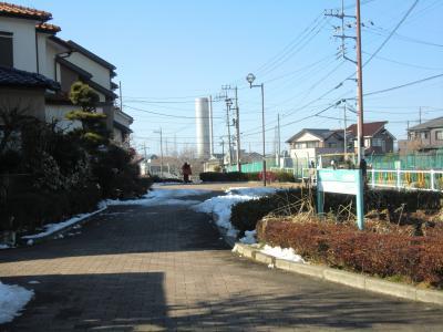 神奈川県営水道みち・横浜水道みちと交差