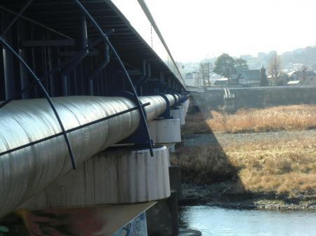 神奈川県営水道北相送水管・中津支管昭和橋水管橋
