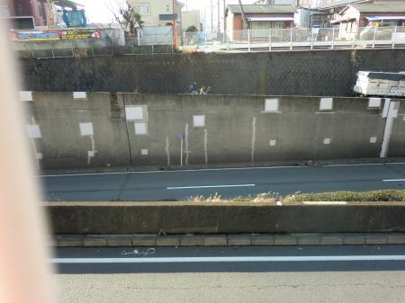 神奈川県営水道みち・R129交差厚木市上依知