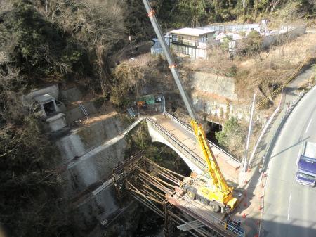 小倉橋灌漑用水路橋撤去工事