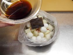 大根とうずら卵の酢醤油漬け09