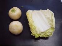 カブと白菜の豆乳パスタ39