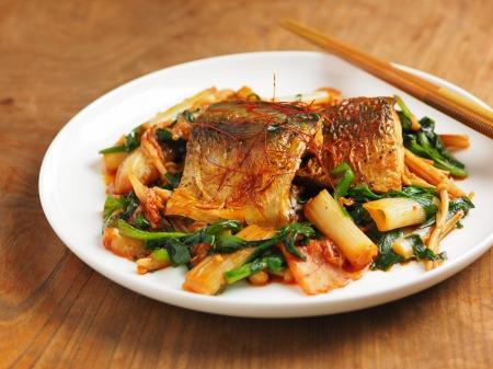 鯖のキムチ煮09