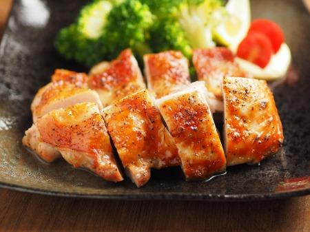 にんにくホイル焼き鶏塩焼き08