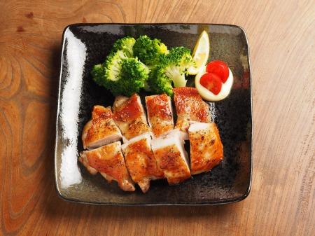 にんにくホイル焼き鶏塩焼き04