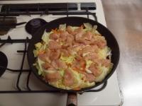 キャベツと鶏むね肉のフライパ48