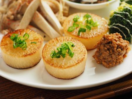 大根ステーキと焼きキノコプレト14