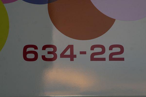 634-22車番