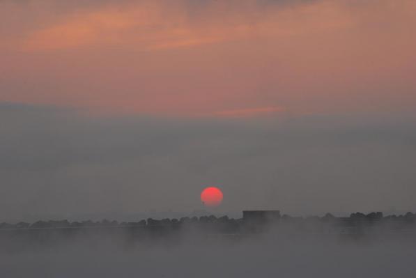 釧路の朝陽
