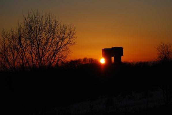 岩保木からの夕日