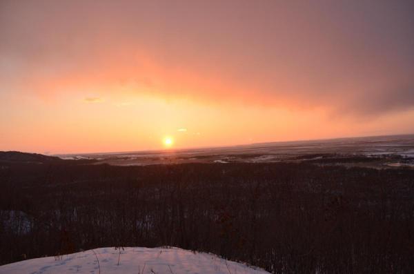 細岡展望台からの夕日