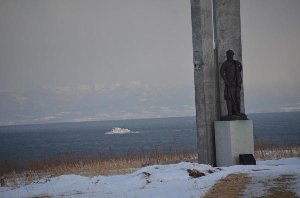 能取岬からの流氷