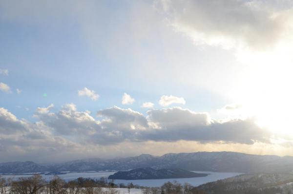 全面結氷の屈斜路湖