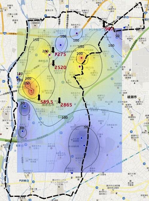 市民測定+堆積物_市町村境界付き2_130226