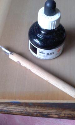 使ってるGペンとインク。