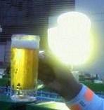 ライトに輝く 1杯目!