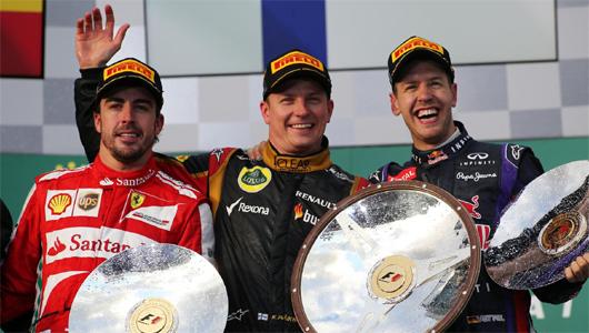 オーストラリアGP決勝トップ3