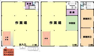★御幣島4工場★カラー図面