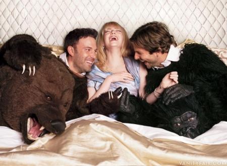 Ben Affleck, Emma Stone, and Bradley Cooper